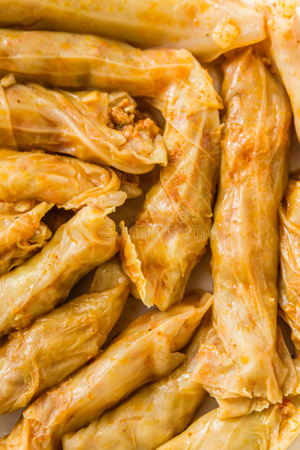Sarma, Stuffed Cabbage Rolls. Sarma, Turkish traditional food, stuffed cabbage with rice and meat royalty free stock images
