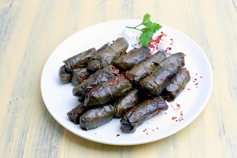 Sarma. Yaprak sarma, a food flavor in Turkish cuisine. Turkish cuisine, is one of almost every dish in the region royalty free stock photos