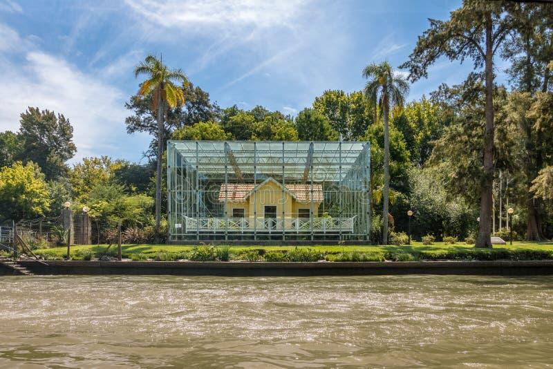 Sarmiento domu muzeum - Tigre, Buenos Aires prowincja, Argentyna obraz stock