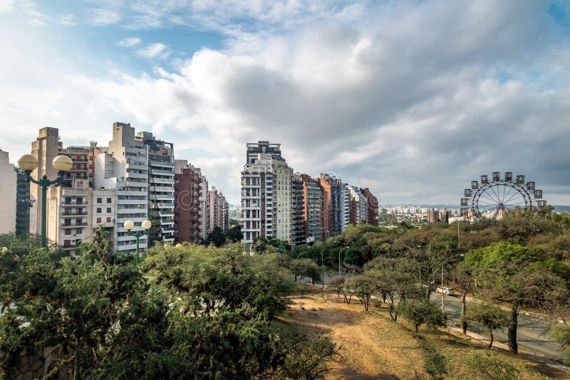 Sarmiento Park Stairs viewpoint Escaleras - Cordoba, Argentina stock photography