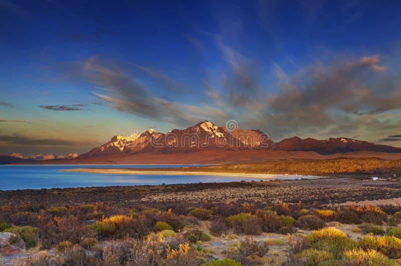 Sarmientomeer, Torres del Paine stock fotografie