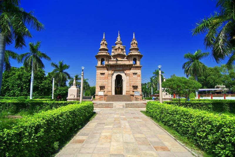sarnath ναός στοκ εικόνες