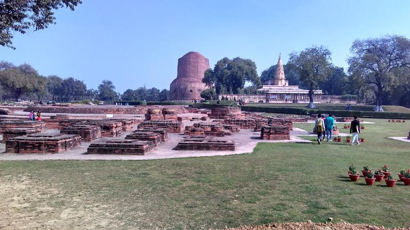 Sarnath aktivering royaltyfria bilder