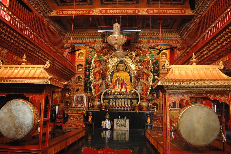 Sarnath Buddhist Temple stock photo
