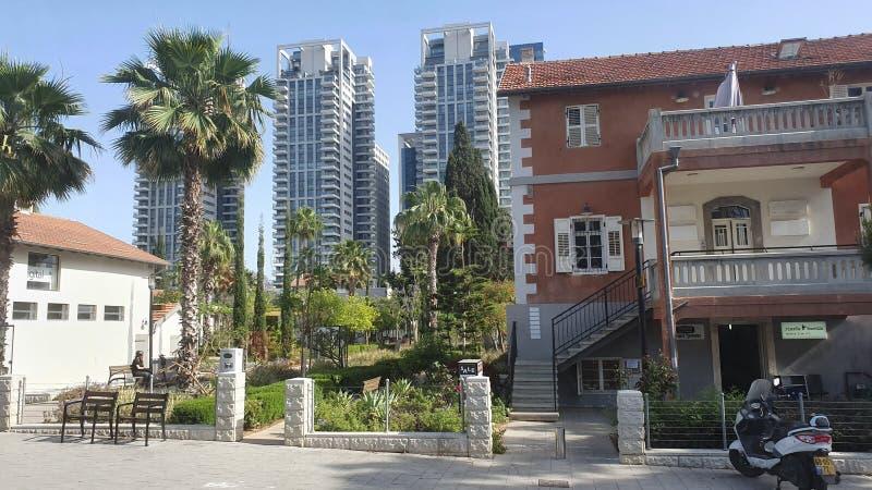 Sarona neibourhood w centrum miastowym tel Israel zdjęcie royalty free
