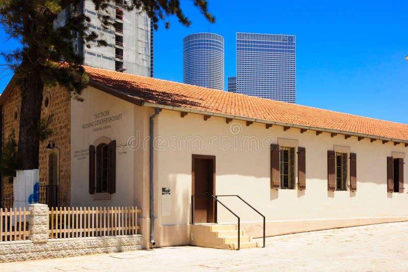 Sarona sammansättning, Tel Aviv royaltyfri foto