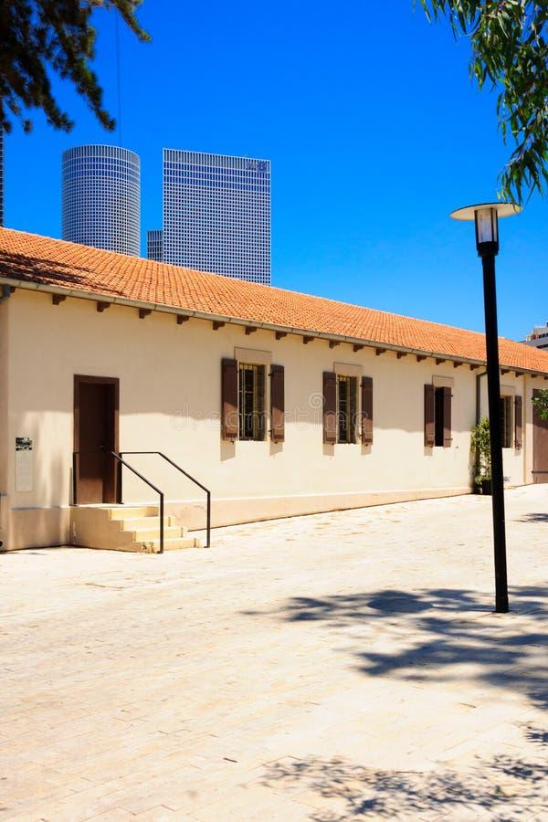 Sarona sammansättning, Tel Aviv royaltyfria bilder