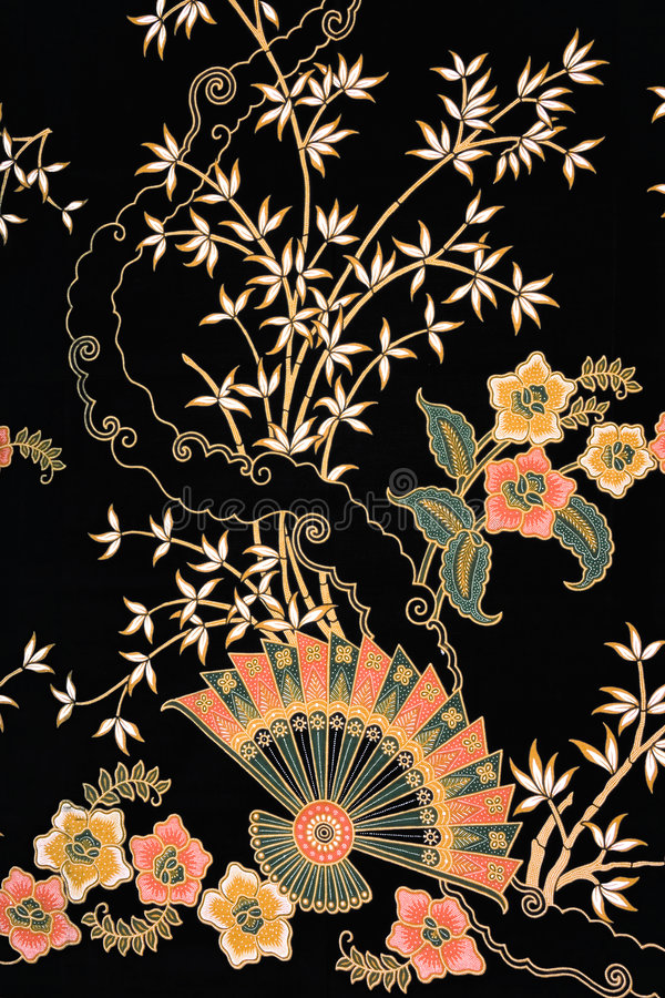Sarong indonésio do Batik imagens de stock royalty free