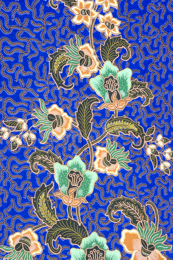 Sarong indonesiano del batik fotografie stock