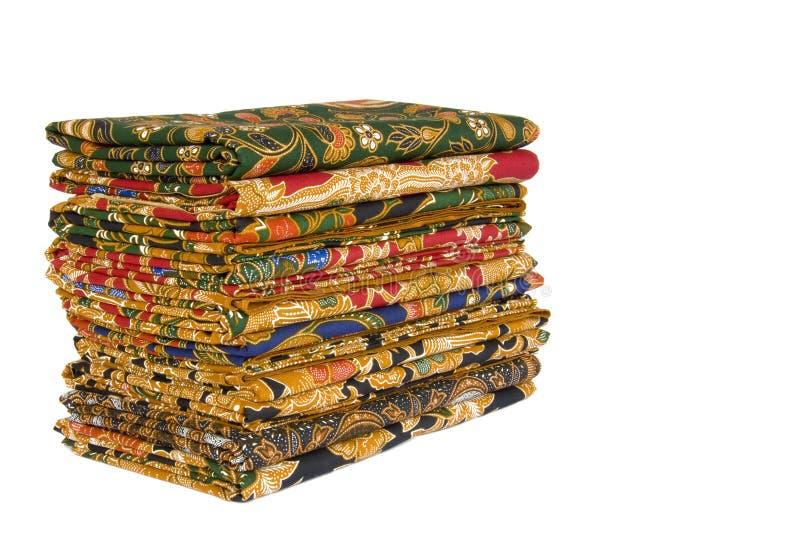 Sarongs de batik photographie stock libre de droits