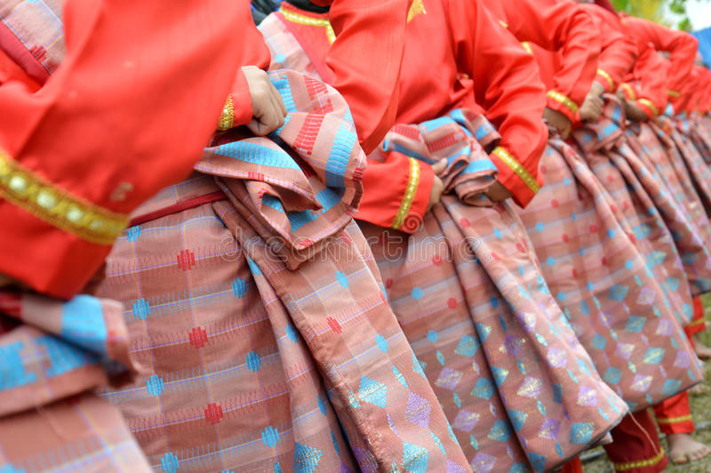 Sarongs en soie tissés image libre de droits