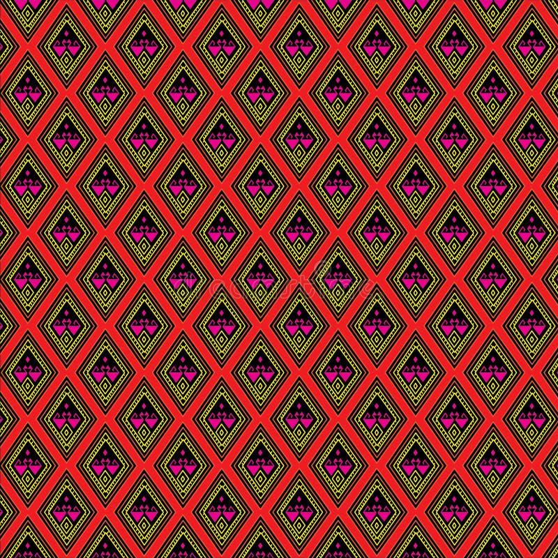 Sarongu deseniowy tło w Tajlandia zdjęcie stock