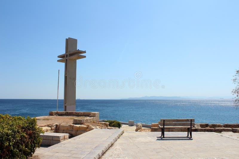Saronic golfsikt i Piraeus, Grekland royaltyfri foto