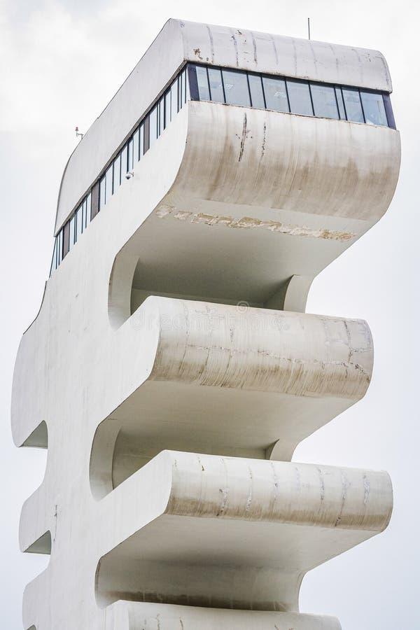 Sarpi, Georgia - May 2017. Architectonic building on Georgian border with Turkey royalty free stock photography