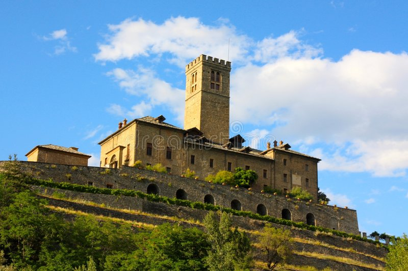 Sarre castle in Italy royalty free stock image