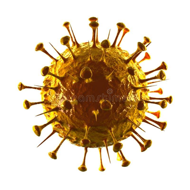 Sars Virus III - Isolated on White. Biology stock photo