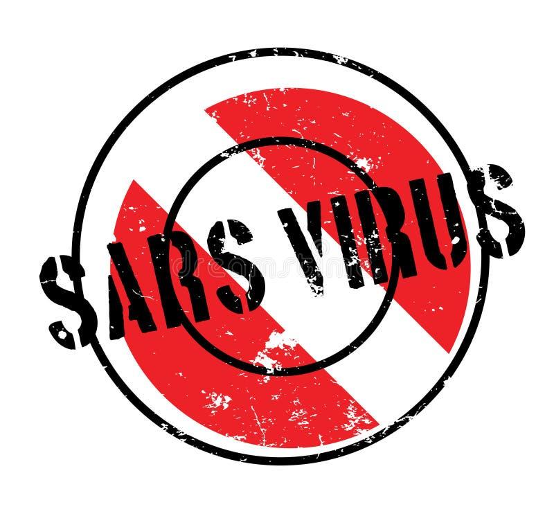 Sars wirusa pieczątka royalty ilustracja