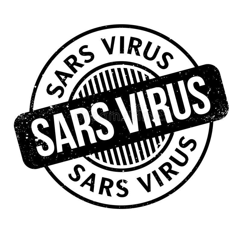 Sars wirusa pieczątka ilustracja wektor