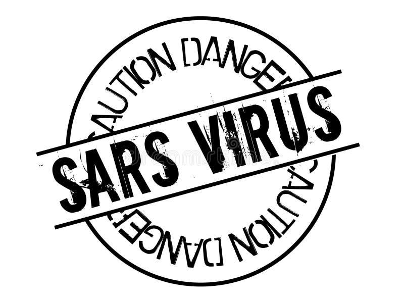Sars wirusa znaczek na bielu royalty ilustracja