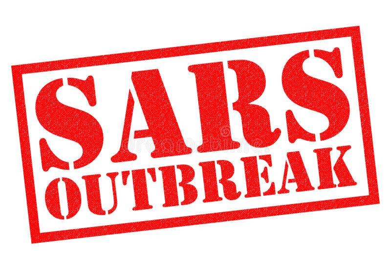 SARS wybuch ilustracji