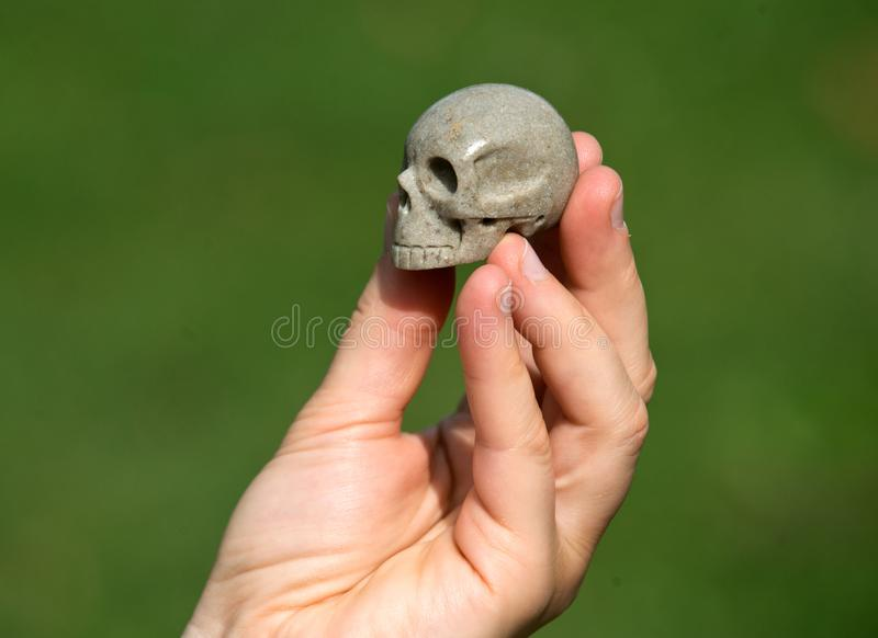 Sarsen从Avebury神圣的站点的石头头骨 免版税图库摄影