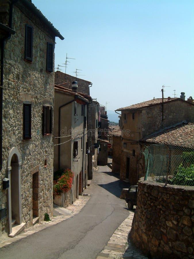Sarteano street. Street in Sarteano, Tuscany royalty free stock photography