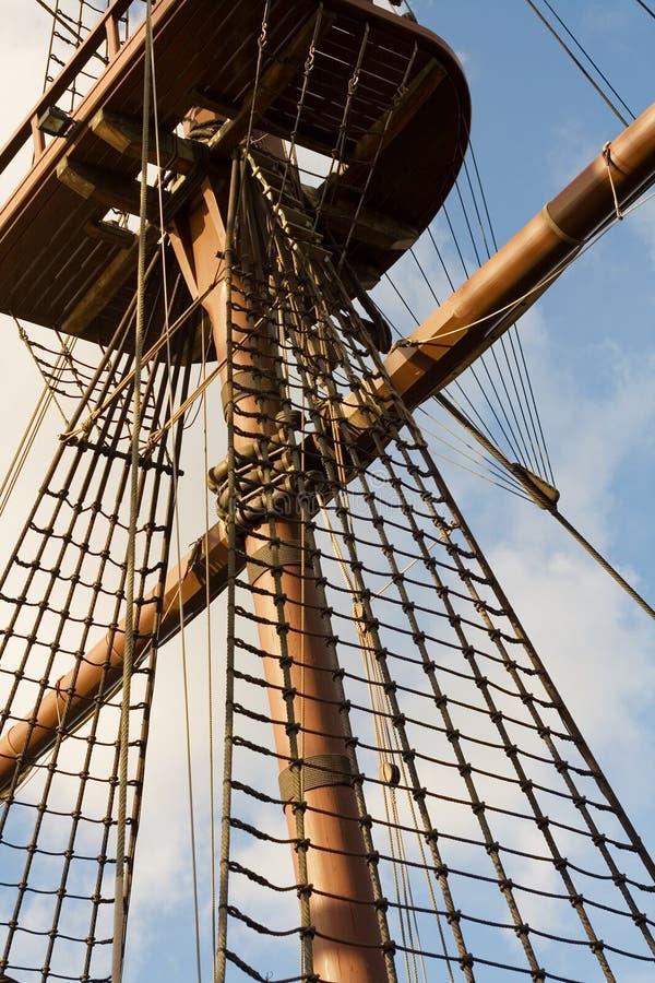 Sartiame alto della nave fotografie stock libere da diritti