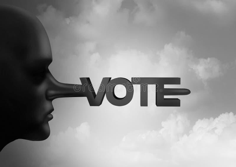 Sartiame di frode e dell'elettore di voto o crimine elettorale con i voti illegali simbolo da un conteggio di voto e di elezione  royalty illustrazione gratis