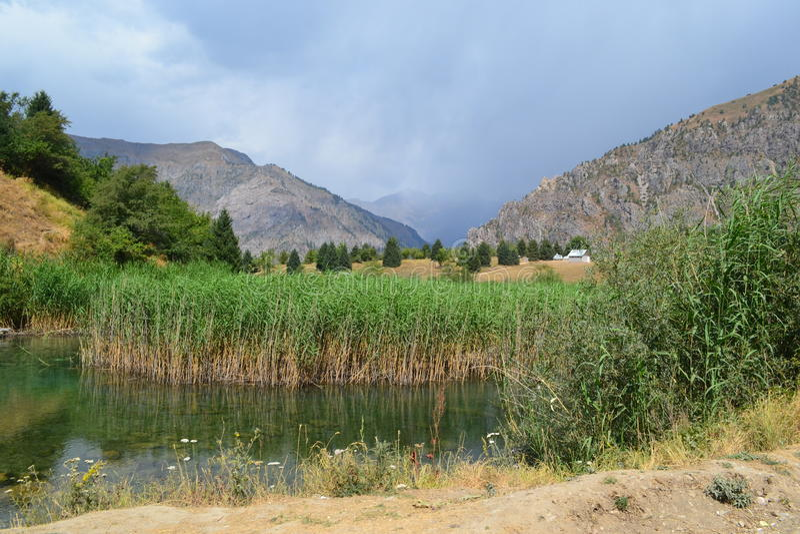 Sary-Chelek, Κιργιστάν στοκ εικόνα με δικαίωμα ελεύθερης χρήσης