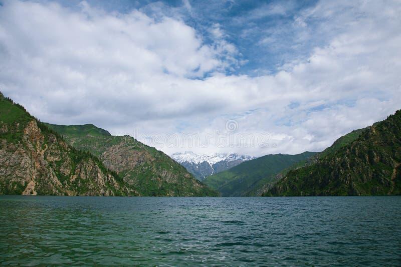 Sary Chelek jezioro, Jalal Abad region, Kirgistan, Środkowy Azja fotografia stock