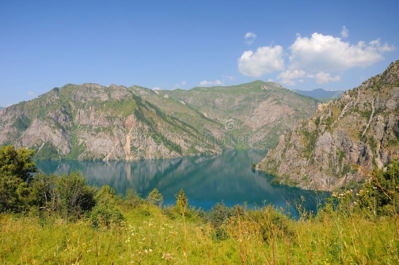 sary chelek piękny jezioro obraz royalty free