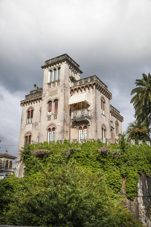 Sarzana, the watch-tower Torrione Testaforte in Liguria, Italy. Europe stock image