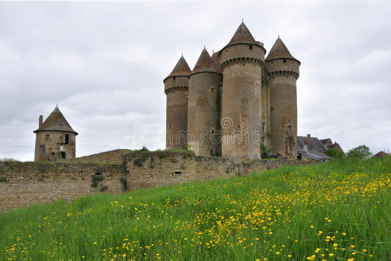 Sarzay Castle in Sarzay, France stock photos
