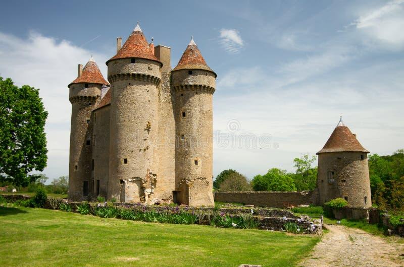 sarzay slott arkivfoto