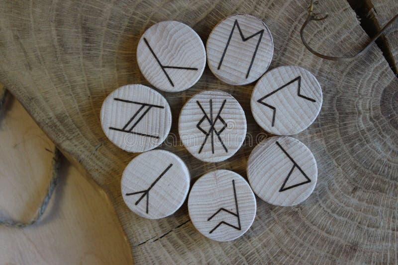 Sasów runes Futhorc obraz royalty free