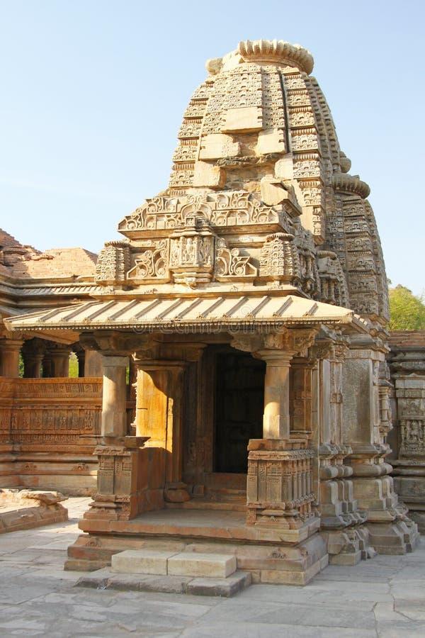 Sas Bahu寺庙在瓜廖尔市,拉贾斯坦,印度 库存照片