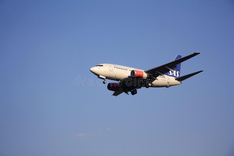 SAS Scandinavian Airlines aircraft stock image