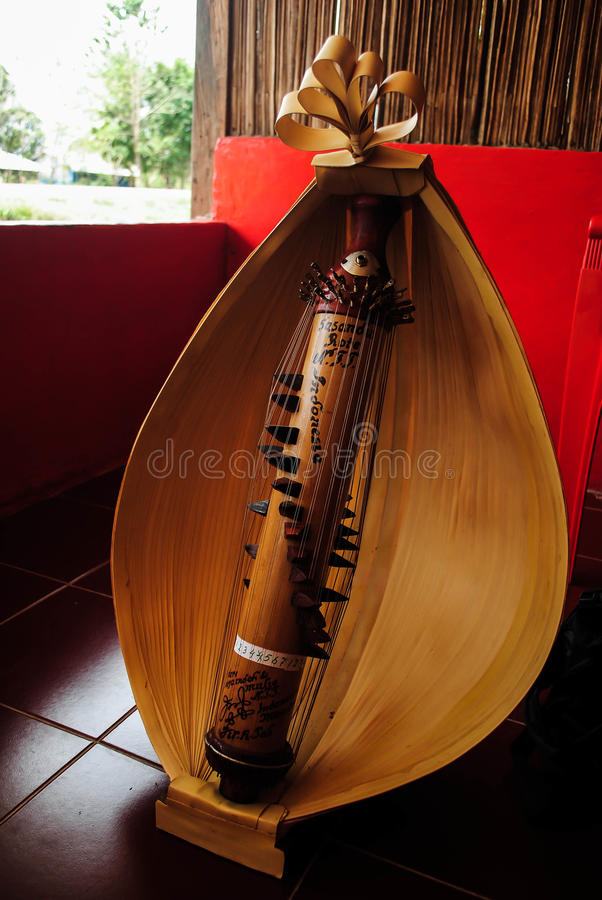 Sasando乐器 库存照片