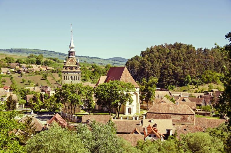 Saschiz stärkte kyrkan arkivbild