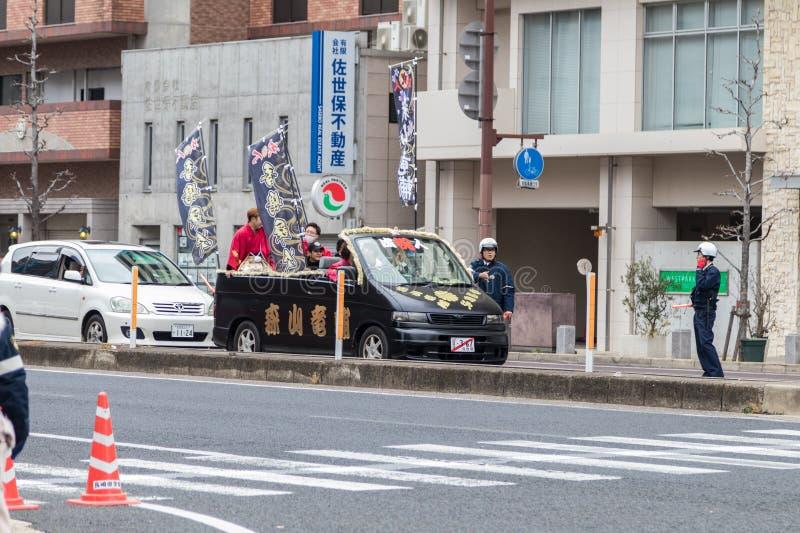Sasebo, Japan - 07JAN2018: Komst van leeftijdsdag in Japan stock afbeeldingen