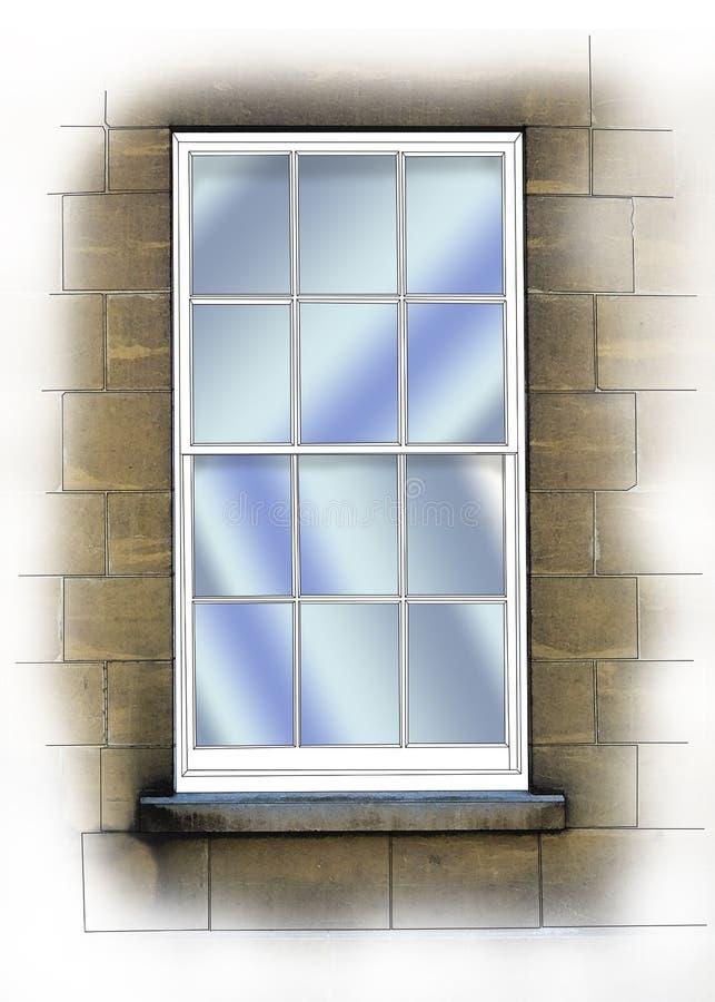 Download Sash window stock illustration. Illustration of traditional - 17276874