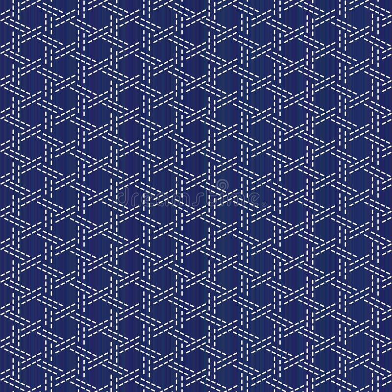 Free Sashiko. Abstract Seamless Texture. Kimono Pattern Stock Photos - 160123953