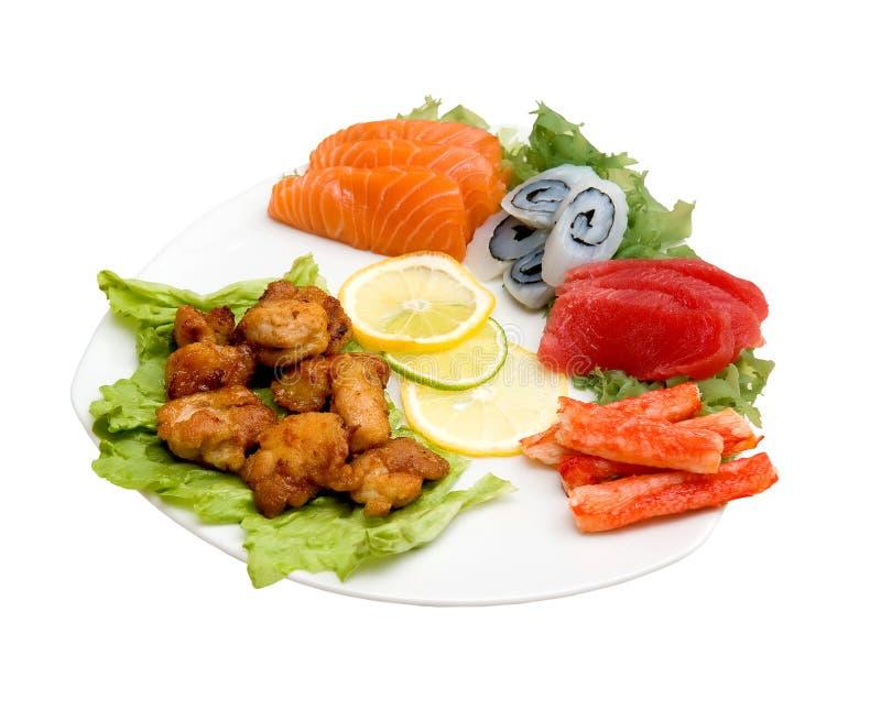 Sashimi. Traditional Japanese dish of sashimi stock photo