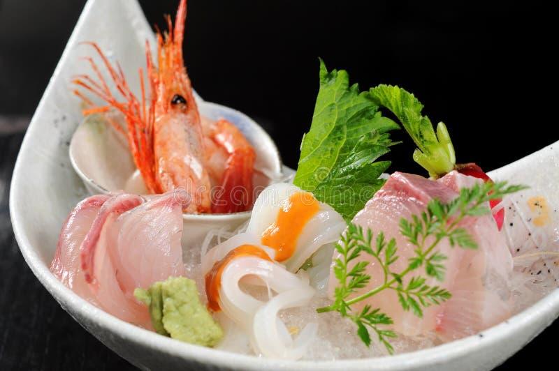 Sashimi. Japanese sashimi on a white dish stock photography