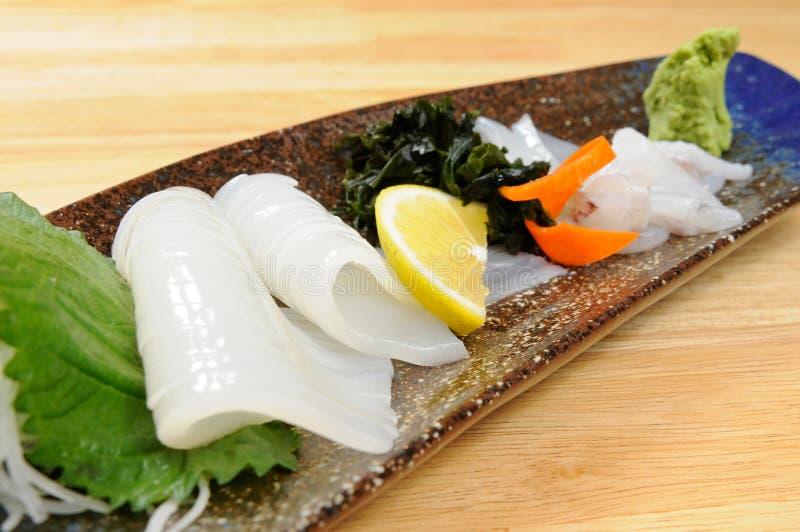 Sashimi. Japanese sashimi on a white dish stock photos