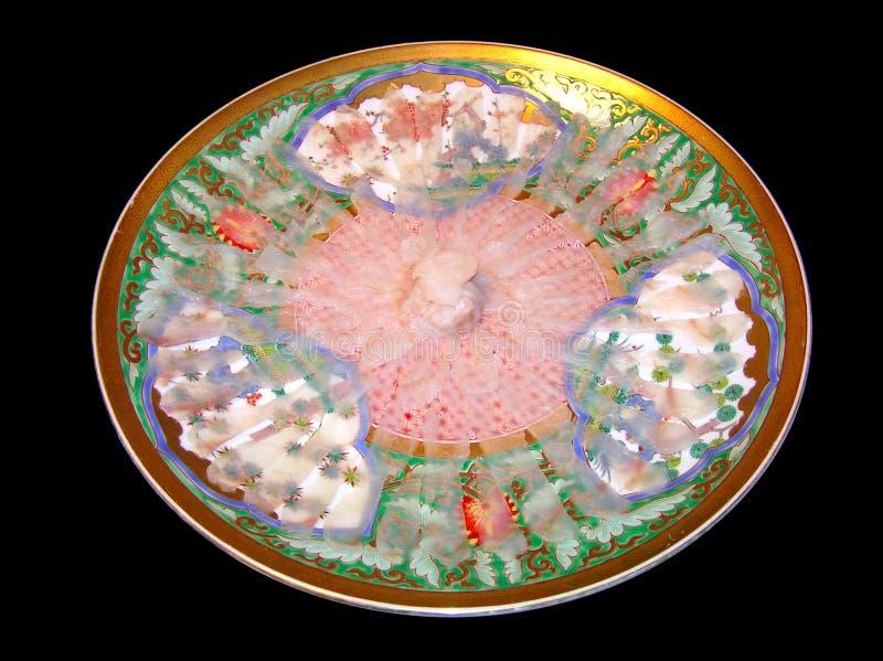 Sashimi de Fugu - poisson cru de décolleur images stock