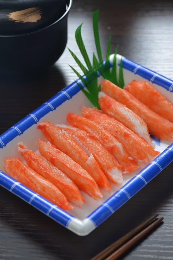 Sashimi de la carne de cangrejo imagenes de archivo