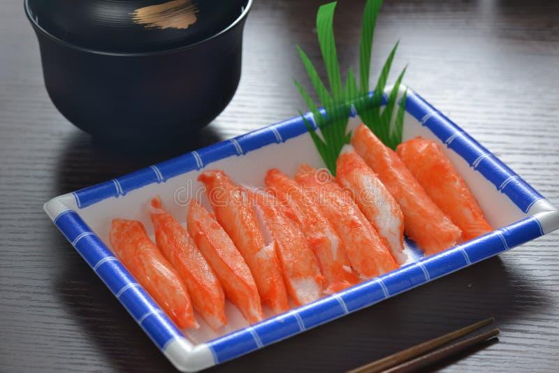 Sashimi de la carne de cangrejo imagen de archivo libre de regalías