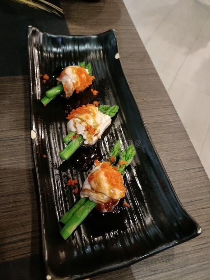 Sashimi de la comida de Japón delicioso foto de archivo libre de regalías