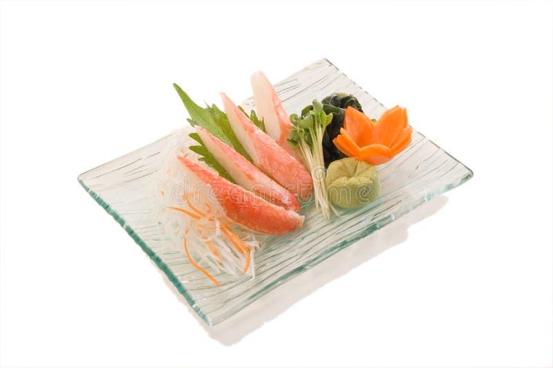 Sashimi del granchio della neve fotografia stock